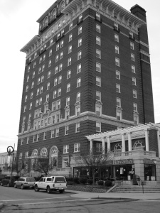 Built in 1924 the Battery Park Hotel still stands in Asheville as one of the most distinctive in the mountain city skyline.